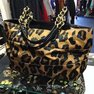 Coach Animal Print Shoulder bag Authentic